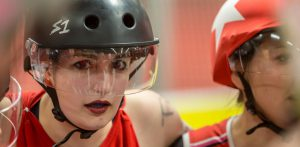 1. Bundesliga: RuhrPott Roller Girls [A] vs. Riot Rollers Darmstadt @ Wohnbau Hockey Arena