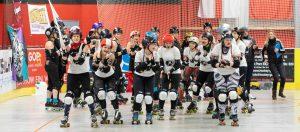 RuhrPott Roller Girls [B] vs. Sucker Punch Roller Derby Nürnberg @ Wohnbau Hockey Arena